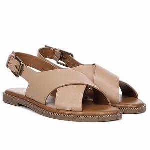 NEW Franco Sarto Kayleigh Slingback Leather Sandal